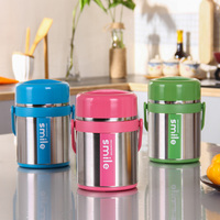 Hot 1 9L 304 Stainless Steel Lunch Pail Thermos Food Container Portable Creative Vacuum Insolated School