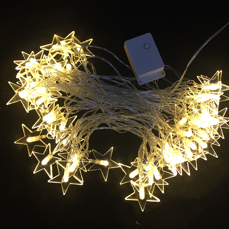 220v 10m 50 led star shaped string lights for party for 6 star window christmas decoration lights