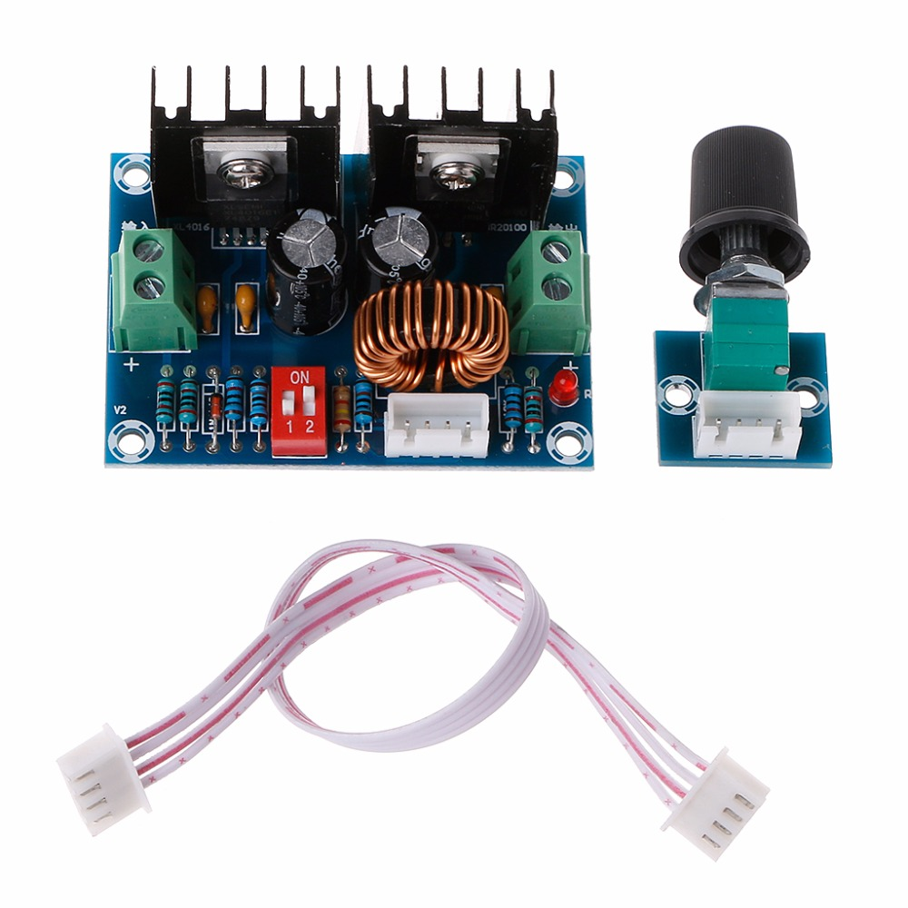 DC4-40V Buck Converter 200W Voltage Regulator Adjustable Step Down Module diy lm2596 adjustable step down voltage regulator buck converter modul