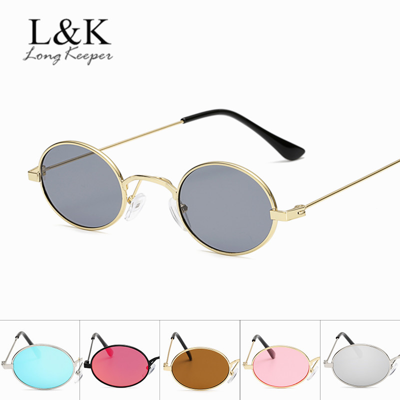 9eae449b9 Vintage Retro Women Sunglasses 2019 Round Oval Sun Glasses Luxury Brand  Metal Round Frames Black Small Size Eyewear UV400