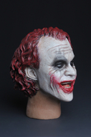 1/6 Scale super villain Batman Smiley clown Joker Head Carved red hair Model Head Carving fit 12 Male body Model Toy