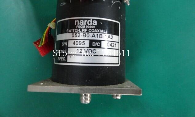[BELLA] Narda 052-B0-A1B-1A2 0-18GHZ Single Pole Five Throw RF Coaxial - 12V SMA
