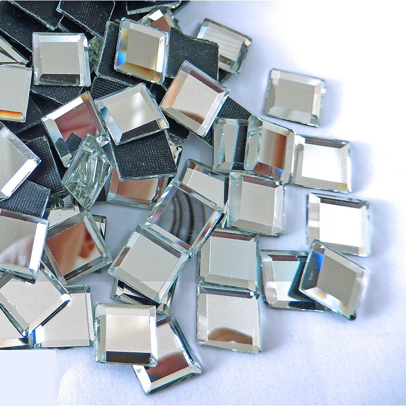 5x5mm 100pcs Clear White DMC Hot-fix Rhinestones Square Shape Hotfix Stones Iron-on Flatback For Women Dress Bags B0318