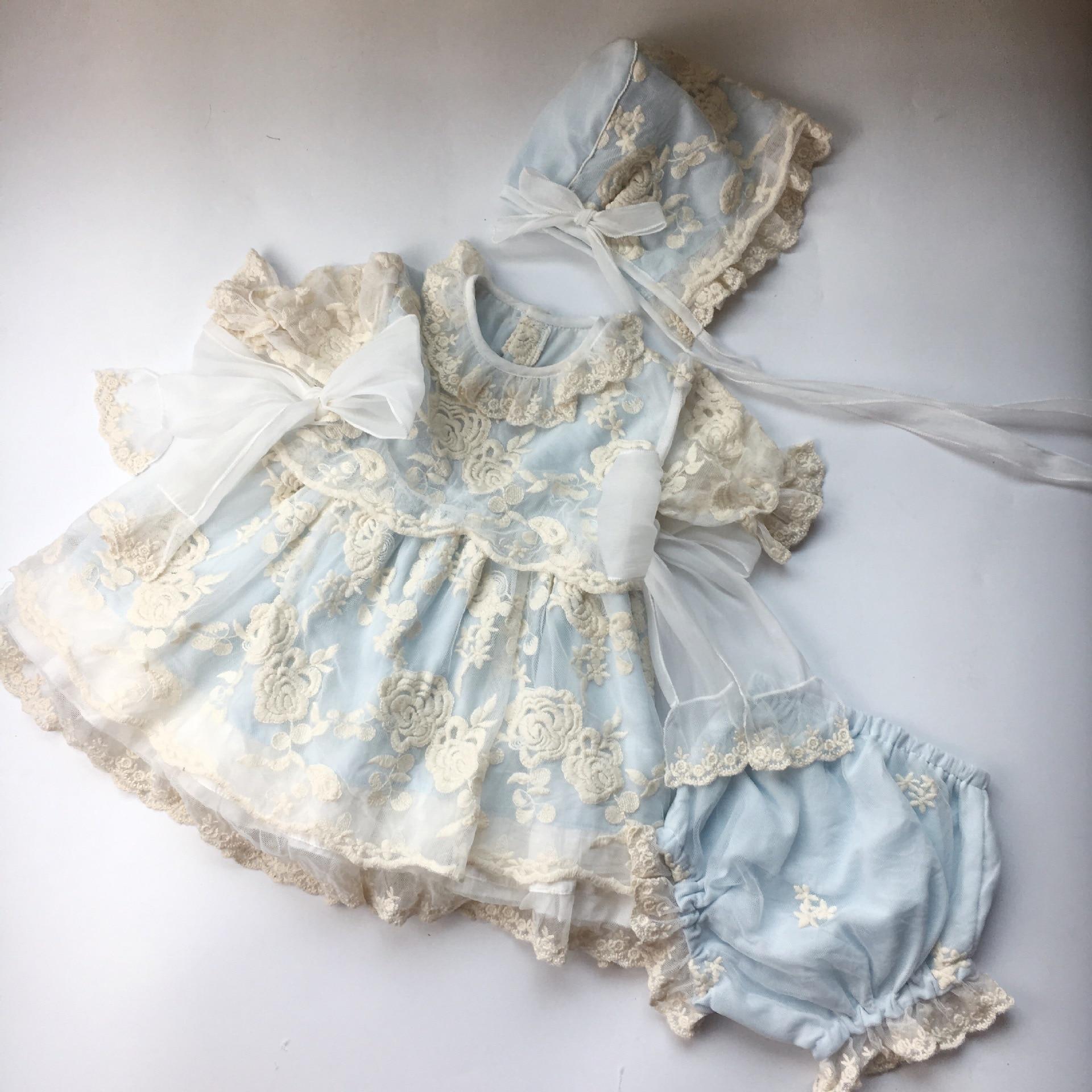 Children s Dresses Girls Boutique Spanish Clothes Set Infant Carnival Costume Eleghant Communion Wedding Party Dress