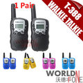 T-388 Mini Walkie Talkie UHF 462.550-467.7125MHz Two-way Radios 0.5W 22CH For Kid Children LCD Display A0762Z 2pcs/set