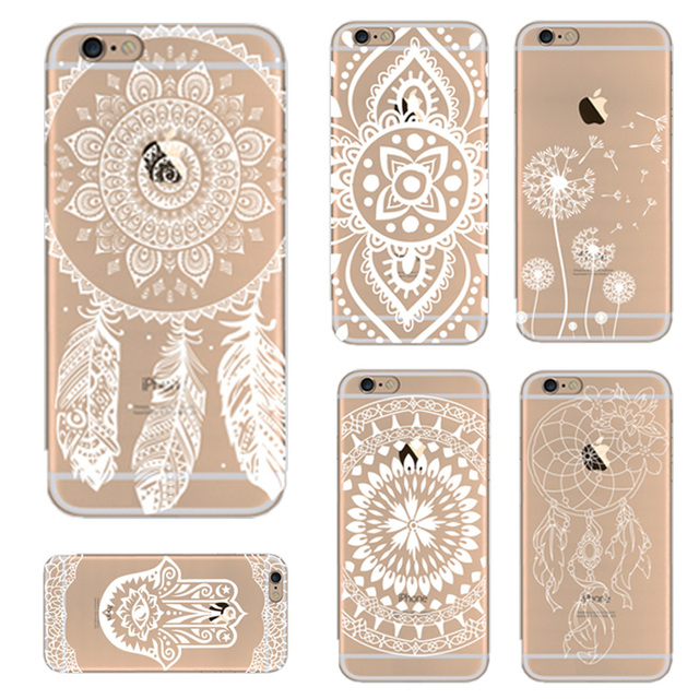 Flower Phone Case for iPhone 6 6s 7 Plus 8 8 Plus Silicone TPU Soft Clear Cover for iPhone 8 7 6 6s 5 5s SE x 10 Case Coque