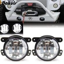 Авто светодиодные лампы дальнего туман свет вокруг 4 дюймов прохождения лампа для Jeep Wrangler JK Chrome Пара