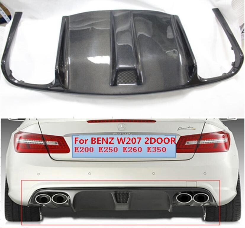 JIOYNG углеродного волокна заднего бампера спойлер Диффузор Крышка для Benz W207 C207 купе E63 E250 E350 2009 2010 2011 2012 BY EMS