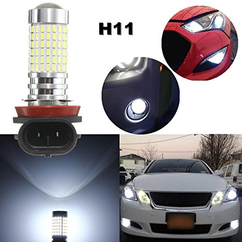 2 pces h7 h8 h11 h10 9005 9006 h16jp 1200 lumens 144-ex chipsets carro lâmpadas led com projetor para drl/luzes de nevoeiro branco 12 v