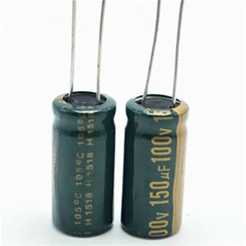 high frequency low impedance <font><b>100V</b></font> <font><b>150uf</b></font> 10*20 20% RADIAL aluminum electrolytic capacitor 150000nf 100v150uf 20% image