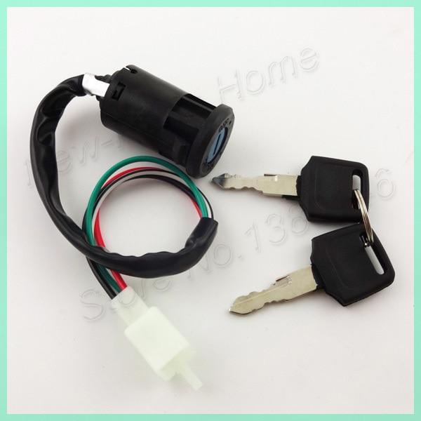 baja 50 atv wiring diagram: 4 wire key switch with 2 switches for 50cc  110cc
