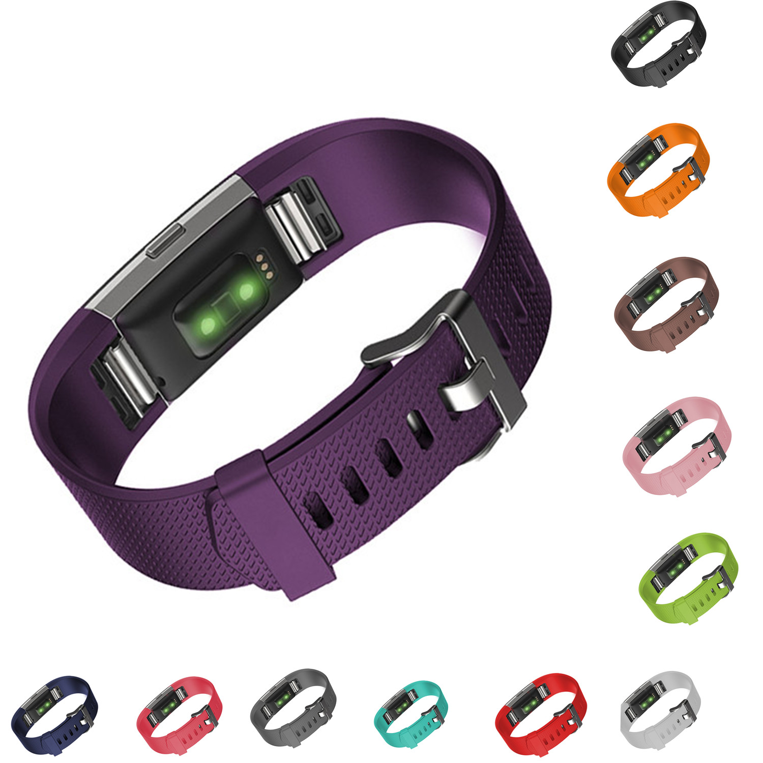 CRESTED sports silicone wristwatch band for FitBit Charge 2 band  Wrist Bracelet Silicone Bracelet Strap Band Replacement Wrist crested stainless steel watch band for fitbit charge 2 bracelet smart watch strap for fitbit charge2 with connector