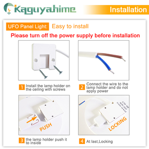 Image 5 - Kaguyahime LED ضوء السقف 36 W 24 W 18 W 13 W 9 W 6 W أسفل ضوء سطح جبل مصباح لوحة 85 265 V الحديثة UFO مصباح المنزل إضاءة زينة