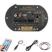 Car Bluetooth HiFi Bass Power AMP Stereo Digital Amplifier USB TF Remote For Car Home Accessories