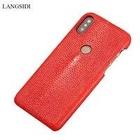 Genuine Stingray Leather Phone Case For Xiaomi Pocophone F1 Mi 9 Mi 8 8 Explore protective Luxury Cases For Redmi Note 7 Pro