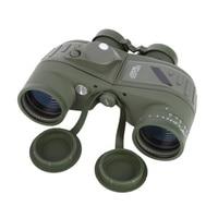 1Pcs 10x50 Waterproof Navy Telescope Fogproof HD Binoculars Rangefinder Compass Reticle Illuminant Night Vision Hunting J2
