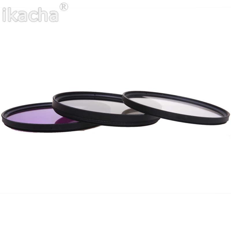 Camera Filter Filtro UV + CPL + FLD Circolare Kit Filtro per Nikon Canon Pentax Sony Macchina Fotografica 52 55 58 62 67 72 77mm