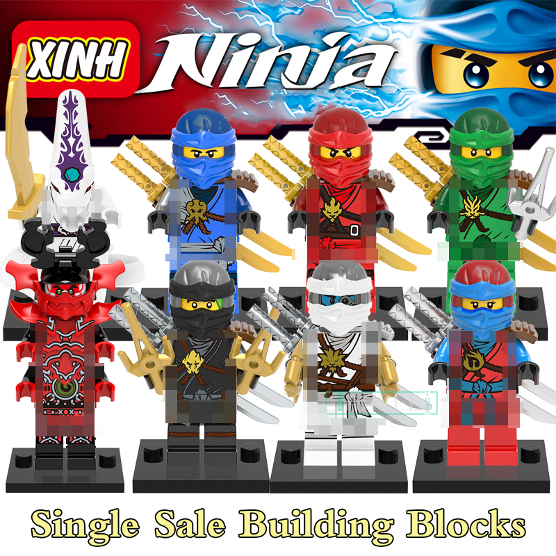Single Building Blocks Kits Ninja Pythor Kozu Lloyd ZANE NYA Figures Super Heroes Star Wars Model Bricks Kids Toys Hobbies X0143 2018 hot ninjago building blocks toys compatible legoingly ninja master wu nya mini bricks figures for kids gifts free shipping