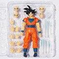 2 unids/set Dragon Ball Z Goku figuras de acción del PVC figura de acción de cara cambiable Chidren regalos Dragonball Z figuras