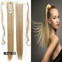 Ribbon хвостик синтетического конский ролик inch шт хвост прямые парики длинные