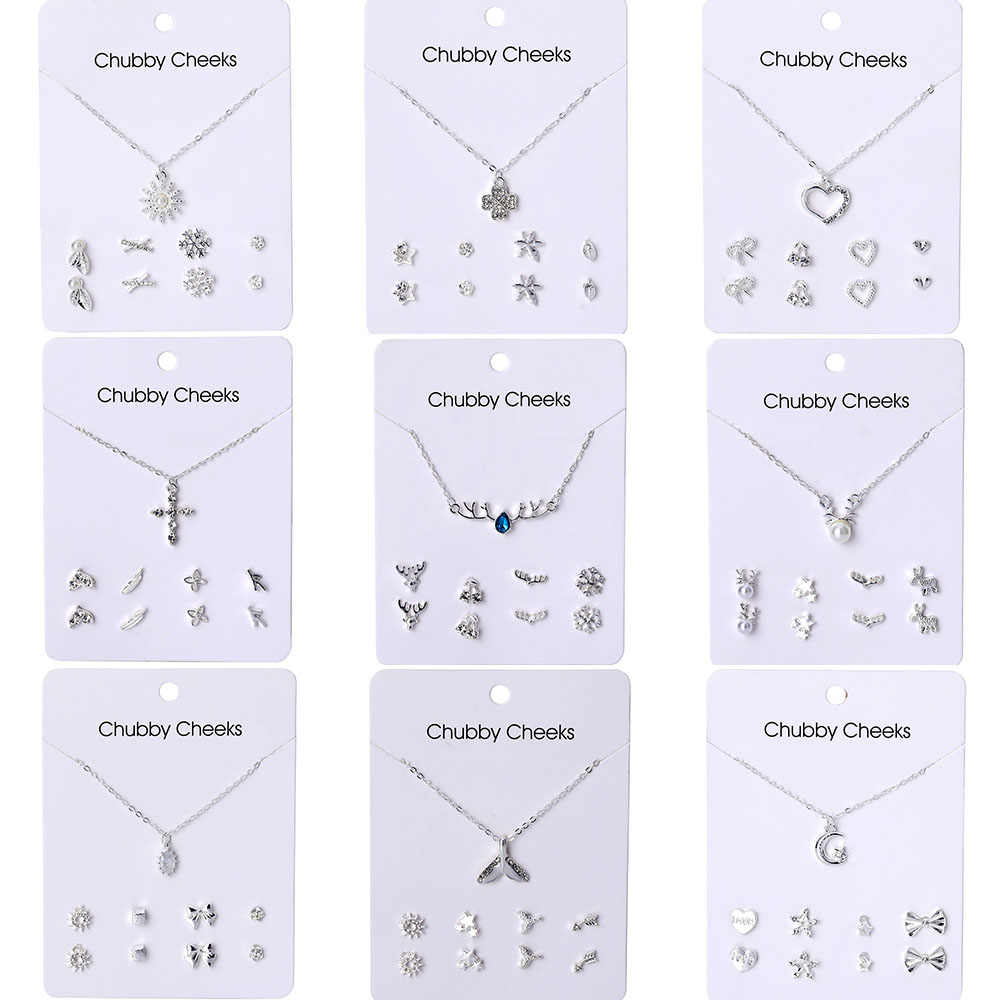 VKME Korean version necklace earrings set jewelry NE+EA women's earrings necklace new 2019 party gift