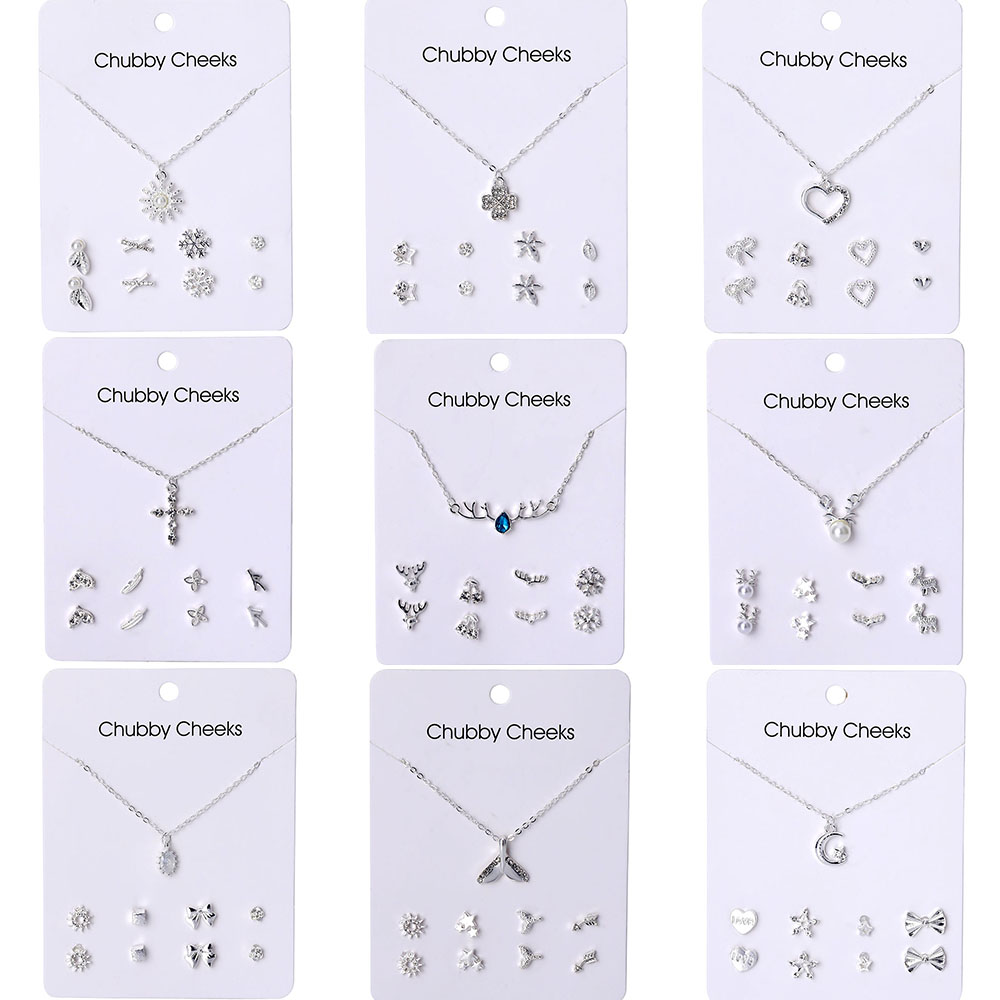 VKME Korean version necklace earrings <font><b>set</b></font> <font><b>jewelry</b></font> NE+EA women's earrings necklace new <font><b>2019</b></font> party gift image
