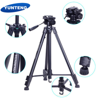 YUNTENG VCT 590 Portable Video Camera TripodS with Damping Head for DSLR Cameras Phones+ Tripod Bag