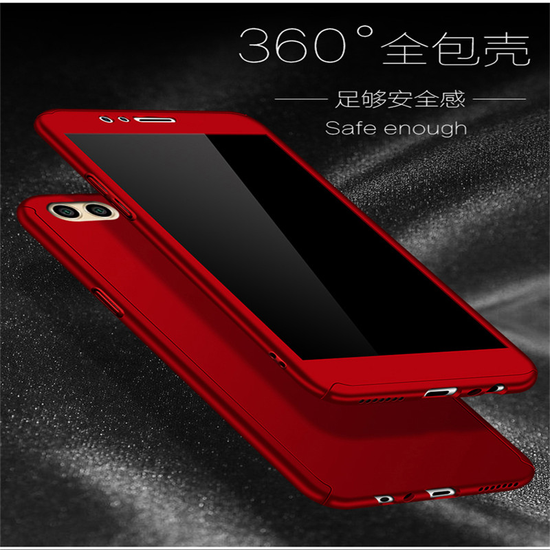 360 Full Protection PC Hard Cases For Huawei P9 Plus Lite Cover For Huawei P9 Lite Matte Back Cover Coque With Glass Film