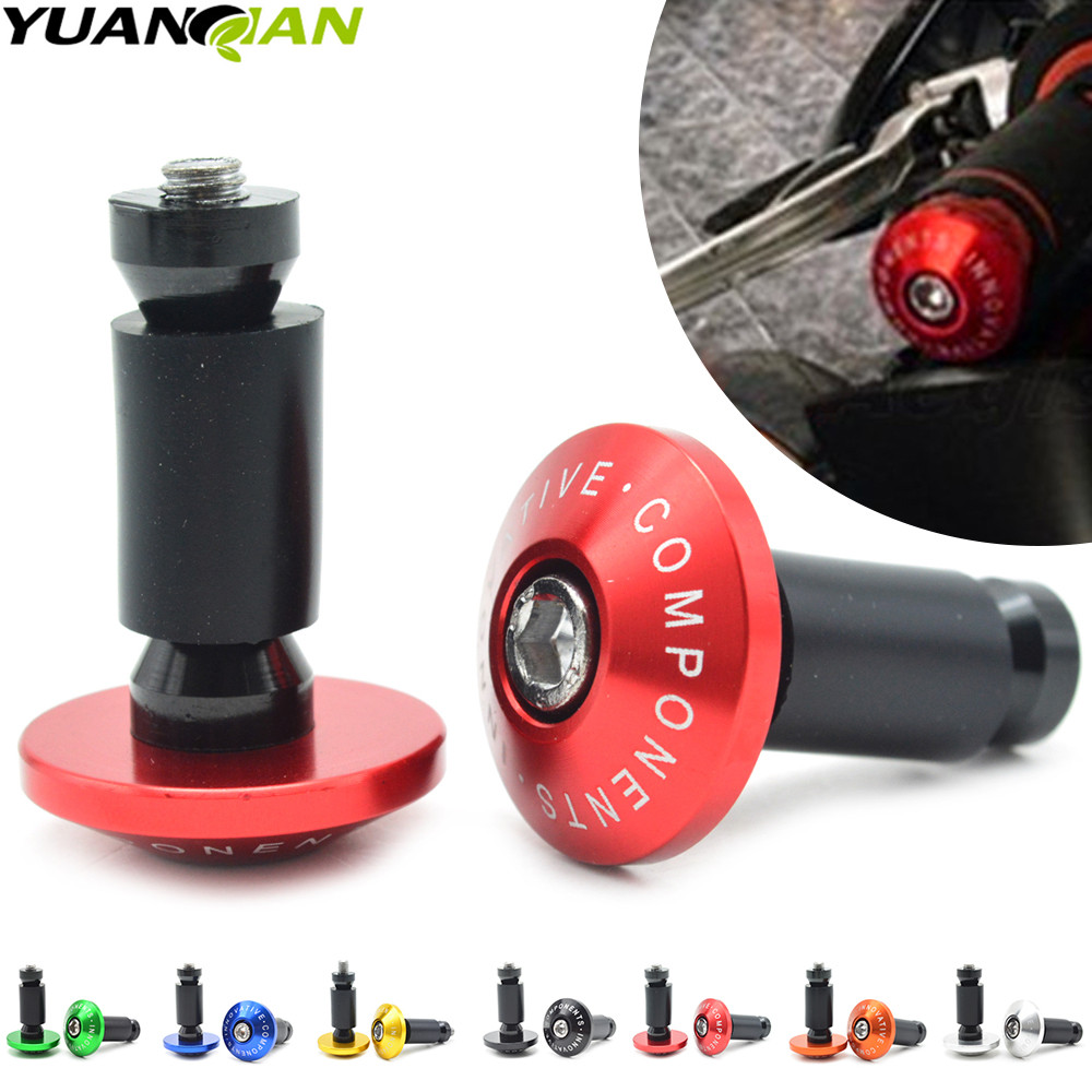 7/8''22 motorcycle handlebar cap motocross handle bar grips ends for YAMAHA XJR 1300 T-Max 530 500 YZF R1 XJ6 MT 07 09 KTM 990