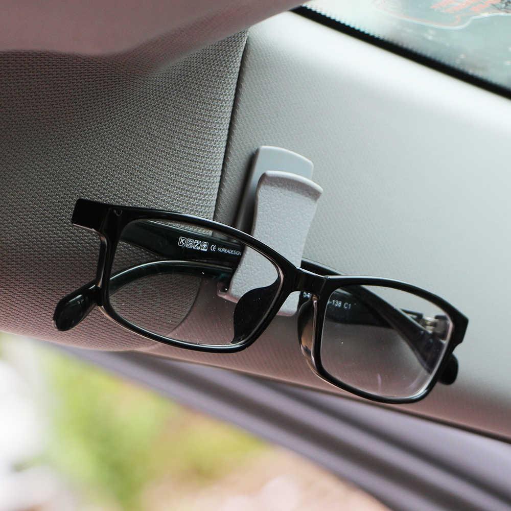 1 çift Çok Fonksiyonlu Kart Gözlük bilet tutucu Oto Araba Klip Siyah Dashboard Kapı Yapışkan Klipler Araba Styling Aksesuarları
