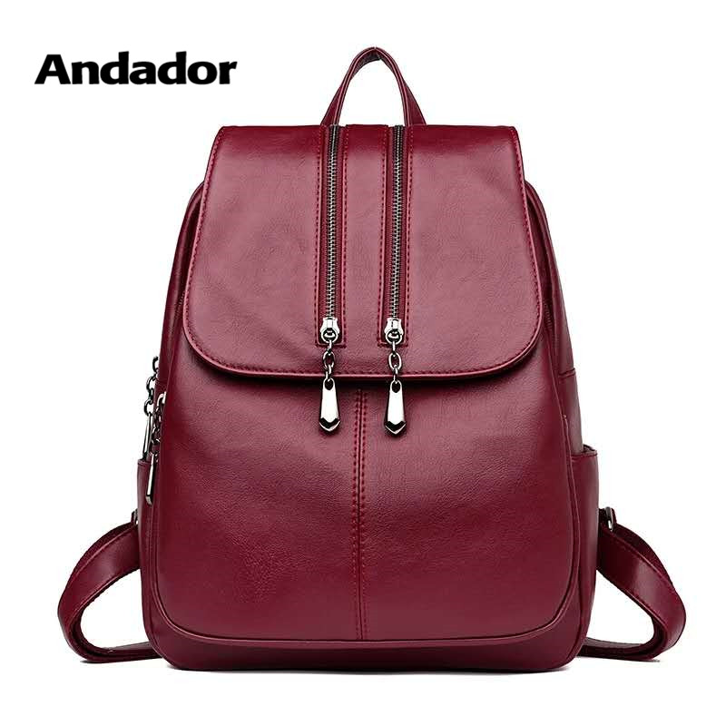 Backpacks Large-Capacity Shoulder-Bags Teenage-Girls Female School New-Fashion PU Big-Bag