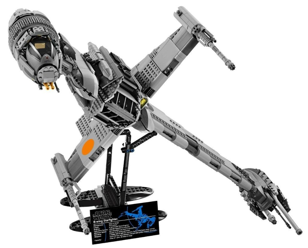 Star Wars Series LEPIN 05045 The Genuine The B wing Starfighter Mobile Building Blocks 1487Pcs Bricks Compatible Legoings