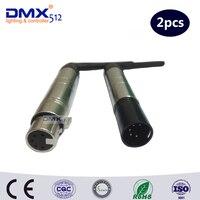 Colornie xlr 5pin sem fio dmx512 1pcs transmissor e 1pcs receptor para dj iluminação de palco