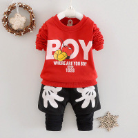 Hot Selling New Autumn Baby Boys And Girls Suit Nice Quality Style T Shirt Tee Pants
