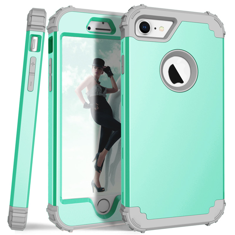 For iPhone7 Case Heavy Duty Hybrid Shockproof Armor Rugged Case For iPhone7Plus Cover Hard PC + Soft Rubber Silicone Phone Cases (8)