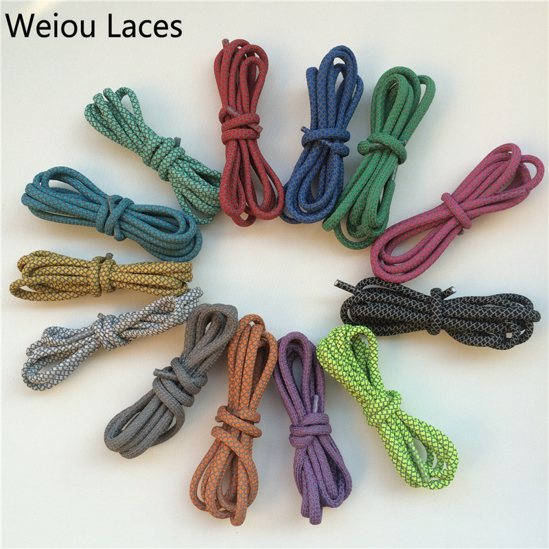 Offical Weiou Brand New Round 3M Polyester Reflective Sports Shoe Laces Safety Visibility Shoelaces Shoestrings For new 350 750 цена в Москве и Питере