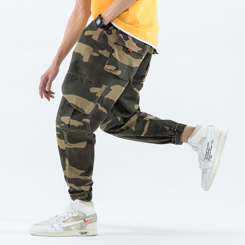 Cargo Pants Trousers Clothing Hip-Hop-Pockets Male Mens Summer Camouflage Brand Spring
