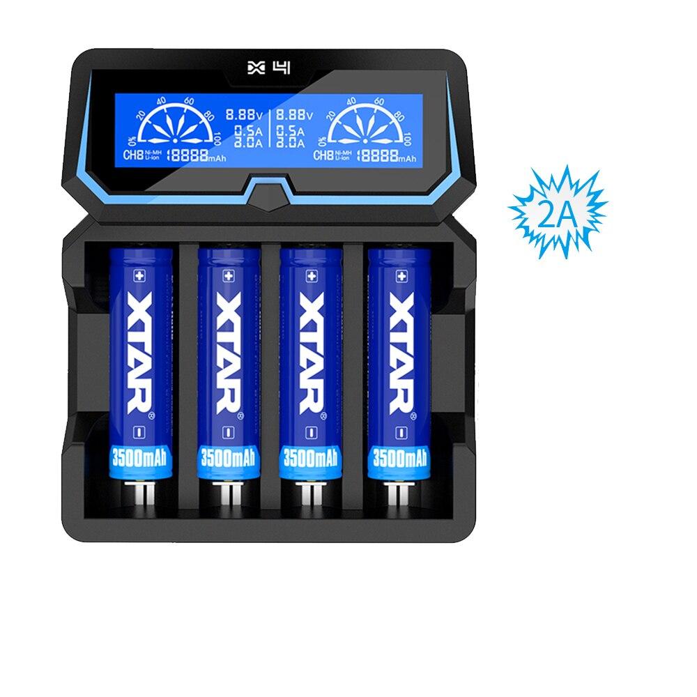 Nouveau XTAR X4 LCD à charge rapide s'applique à 3.6 V/3.7 V Li-ion 16340/18650 26650 32650/IMR/INR/ICR, 1.2 V chargeur de batterie Ni-MH/ni-cd