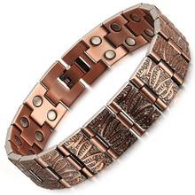 Jewelry Pure Copper Magnet Mens Bracelet Popular Style Creative Sale
