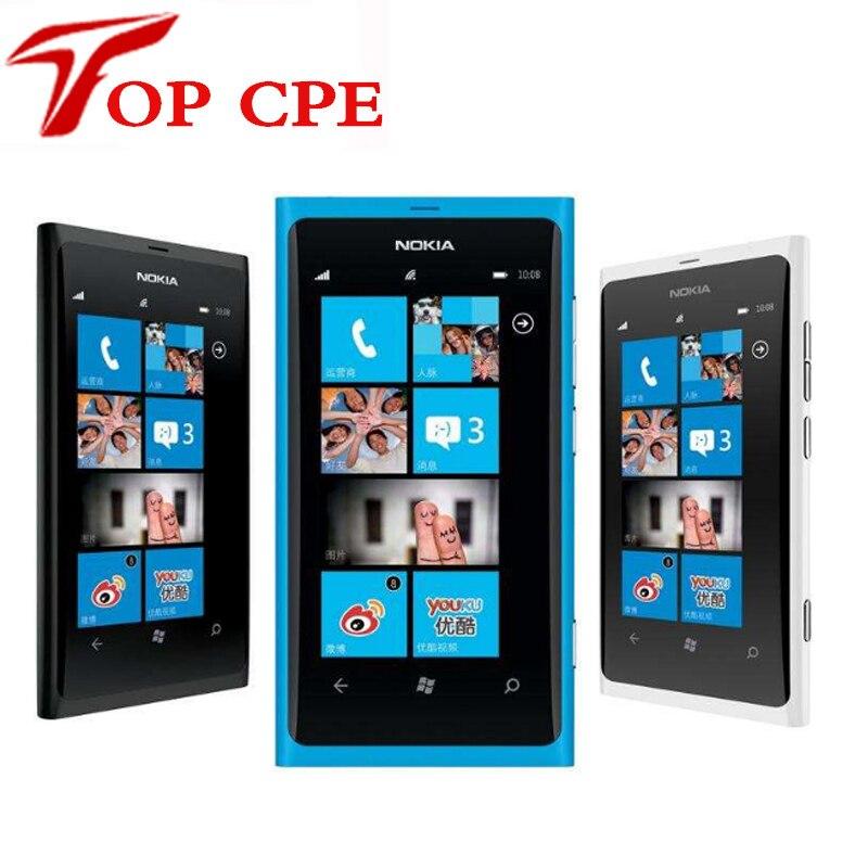 Цена за Nokia 800 оригинальный nokia lumia 800 3g wi fi gps 8mp камера 16 ГБ хранения разблокирована windows mobile телефон бесплатная доставка