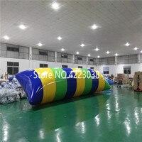 Бесплатная доставка 7 м * 2 м надувной блок прыжки водно воздушный мешок воды надувная катапульта надувная подушка для прыжков воды