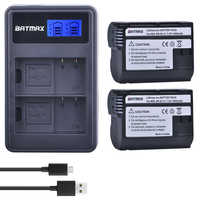 2 pçs EN-EL15 en el15 enel15 el15a baterias + lcd carregador usb duplo para nikon d600 d610 d600e d800 d800e d810 d7000 d7100 d750 v1