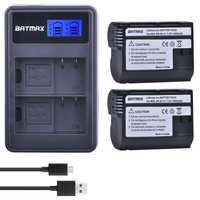 2 uds EN-EL15 es EL15 ENEL15 EL15A baterías + LCD doble USB cargador para Nikon D600 D610 D600E D800 D800E D810 D7000 D7100 d750 V1