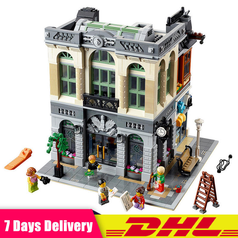 DHL IN Stock LEPIN 15001 2413Pcs Brick Bank City Street Model Building Blocks Bricks Set Gift Toys Compatible LegoINGlys 10251