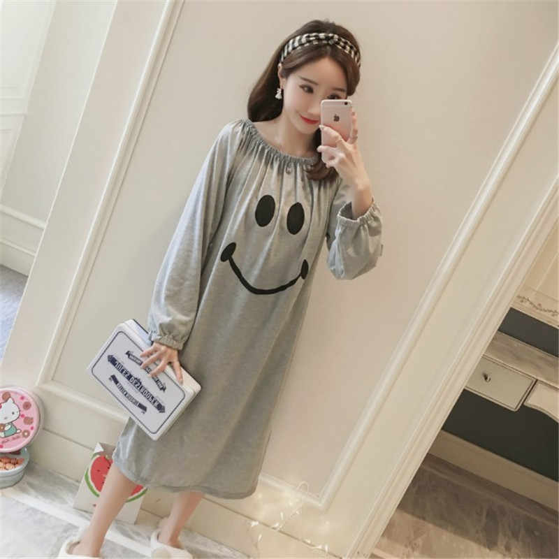 bdc867ab89 Detail Feedback Questions about Strapless nightdress Lady cartoon 2018 boat  neck lovely autumn spring princess dress long sleeved summer sleeping skirt  on ...