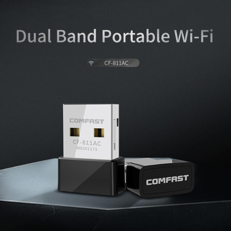 Image 2 - COMFAST CF 811AC 650Mbps Wifi USB Adapter 2.4+5.8GHz 1/2/5.5/11Mbps 6/9/12/18/24/36/48/54Mbps 200 433Mbps PC Network Card Dongle-in Network Cards from Computer & Office