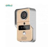 Умный IP видеосвязь Wi Fi видео дверной телефон дверной звонок Беспроводная камера Wi Fi для дверного звонка с металлическим материалом сигнали