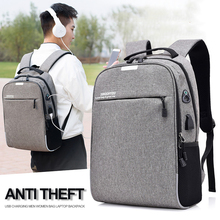 Men Bag Laptop Backpack Anti Theft Male 15.6 Notebook USB Bagpack Mens Travel Business School Anti-theft Back Pack Bags