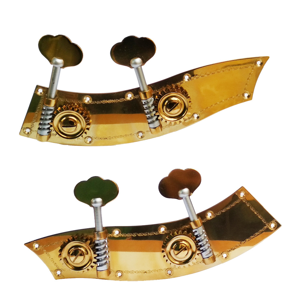 цены 4/4 3/4 Standard Double bass handle The copper base plate pattern worm plate Molybdenum mirror Titanium-gold plated SL508