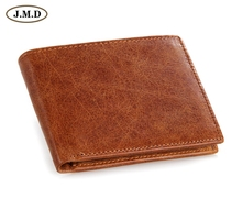 Free Shipping 100% Real Genuine Leather Vintage Style Wallet Billfold # 8047B